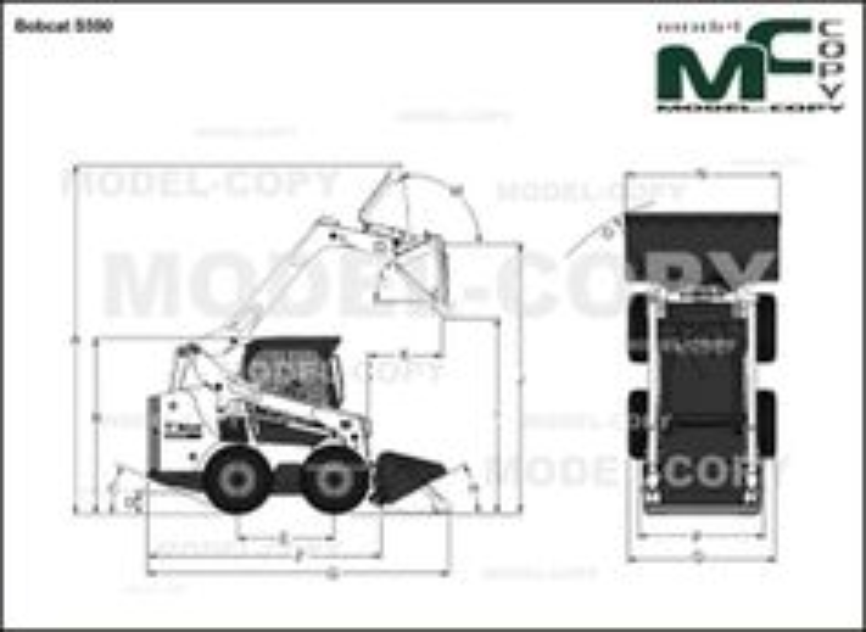 Bobcat S590 - 2D drawing (blueprints)