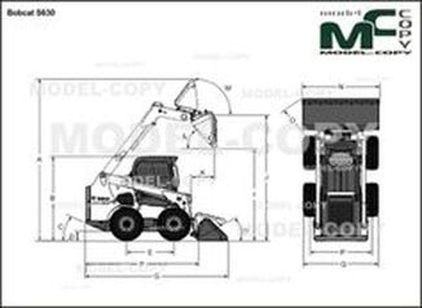 Bobcat S630 - 2D drawing (blueprints)