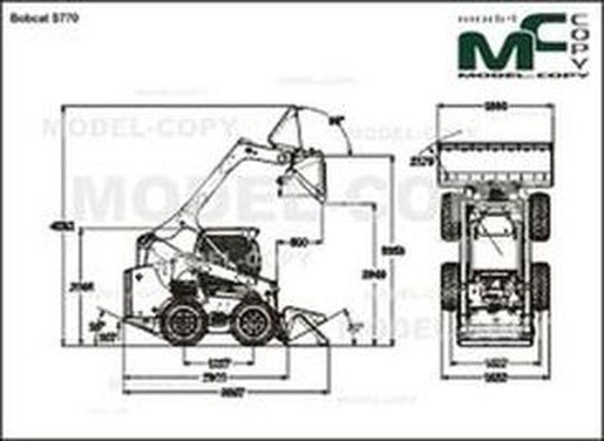 Bobcat S770 - 2D drawing (blueprints)