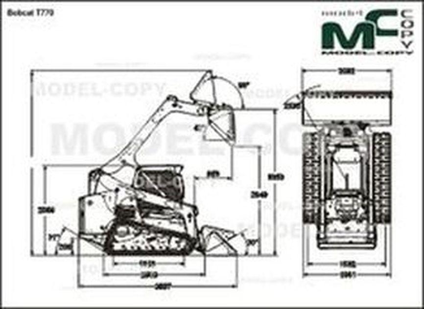 Bobcat T770 - 2D drawing (blueprints)