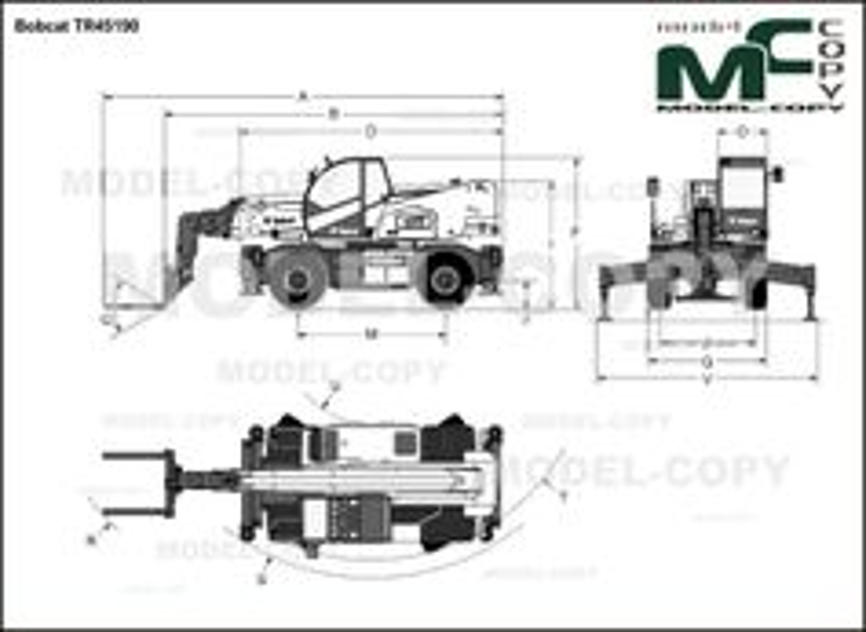 Bobcat TR45190 - drawing