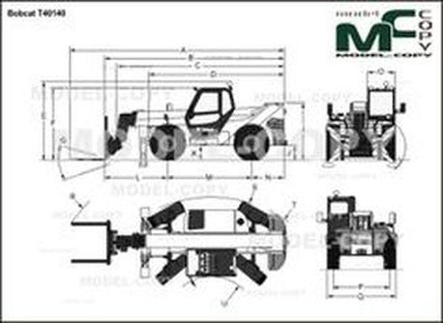 Bobcat T40140 - drawing