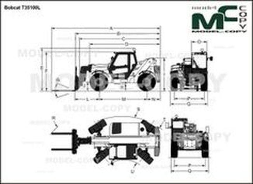 Bobcat T35100L - drawing