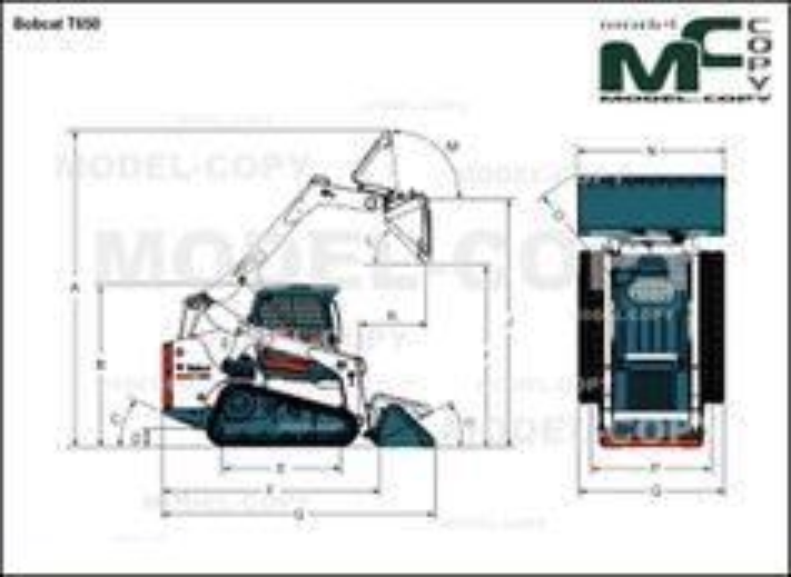 Bobcat T650 - drawing