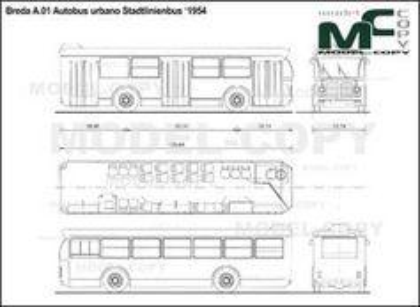 Breda A.01 Autobus urbano Stadtlinienbus '1954 - drawing