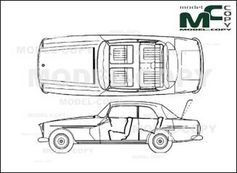 Bristol 409 Sedan '1965 - drawing