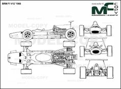 BRM F1 V12 '1968 - 2D drawing (blueprints)