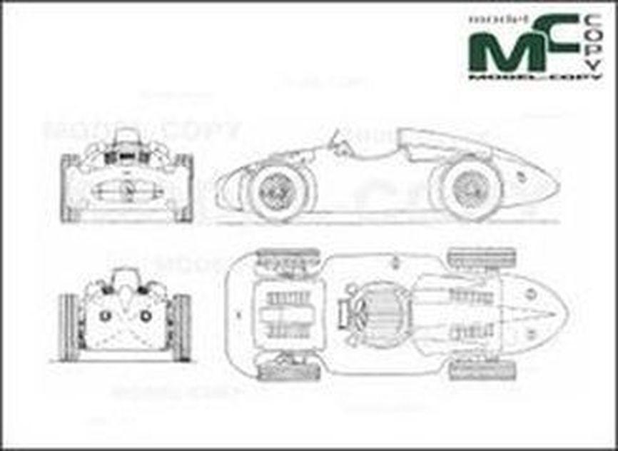 Bugatti T-251 (1955) - 2D drawing (blueprints)