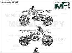 Cannondale S440 '2003 - 2D drawing (blueprints)