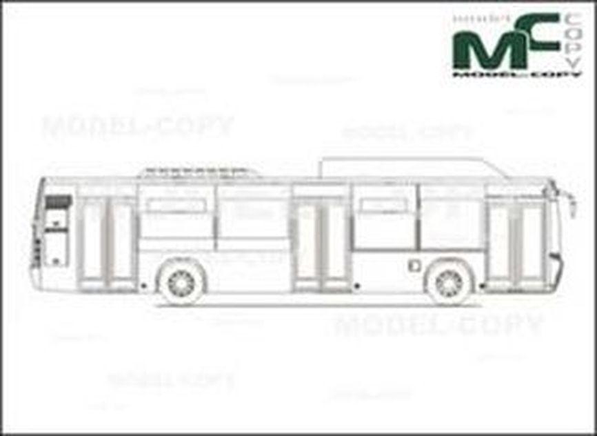 Carrocera Castrosua CITY VERSUS 3-doors 12m - 2D drawing (blueprints)
