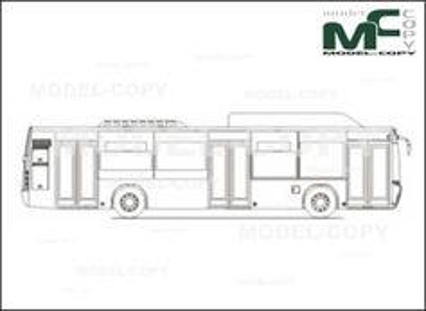 Carrocera Castrosua CITY VERSUS 3-doors 12m - 2D-piirustus