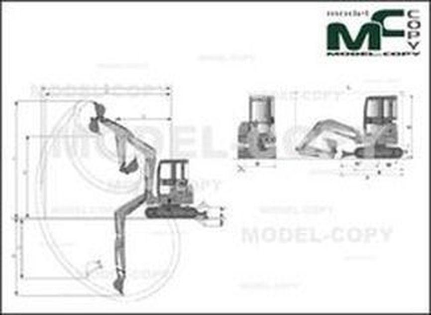 Case CX55B MINI EXCAVATOR - dessin