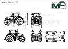 Case IH Puma 160 CVX - 2D drawing (blueprints)