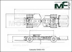 Caterpillar SH650 VFD - 2D drawing (blueprints)