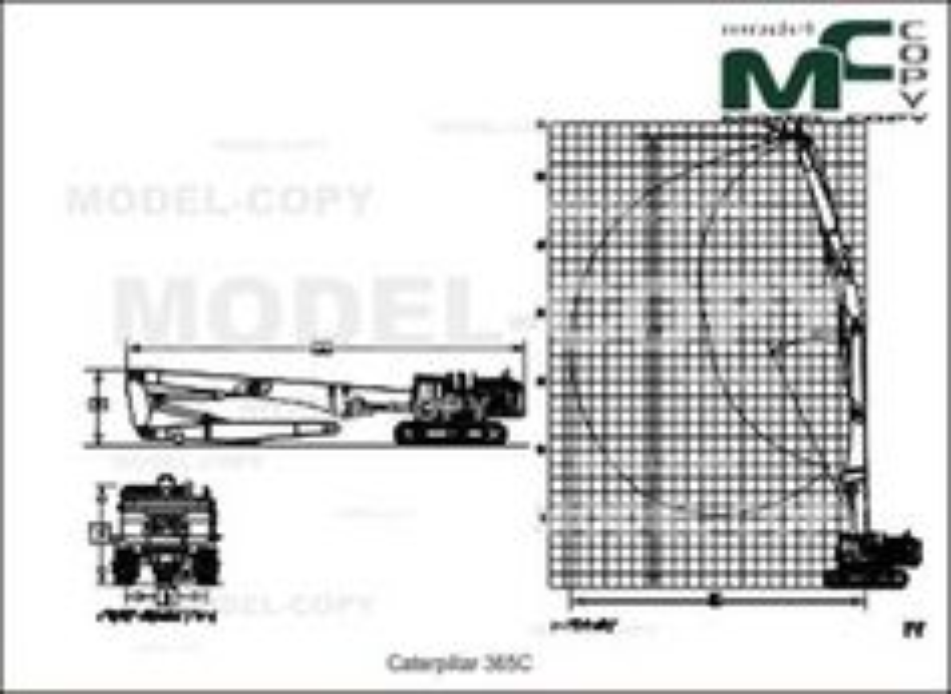 Caterpillar 365C - 2D drawing (blueprints)