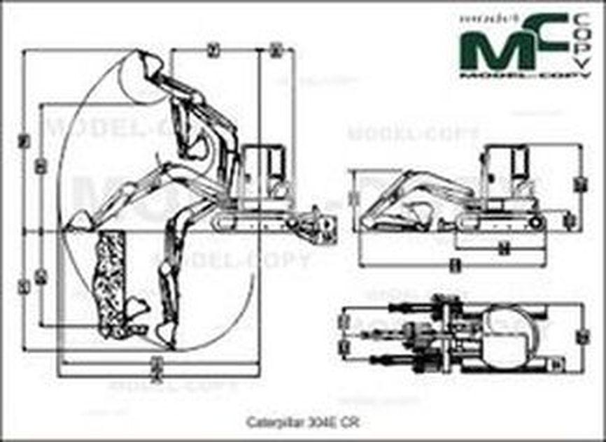 Caterpillar 304E CR - drawing