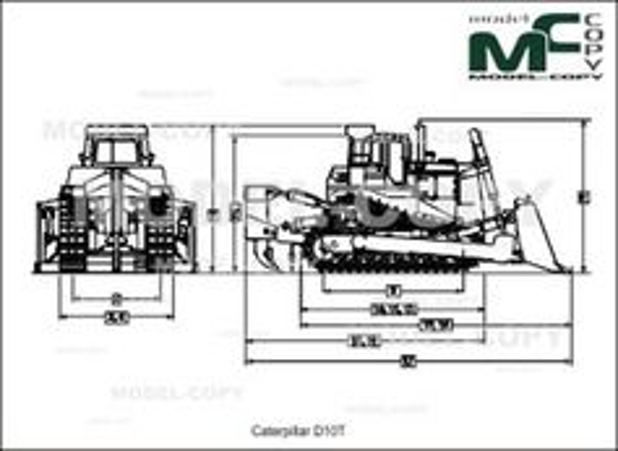 Caterpillar D10T - drawing