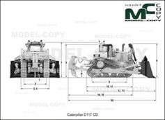 Caterpillar D11T CD - 2D drawing (blueprints)