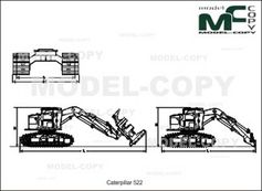 Caterpillar 522 - 2D drawing (blueprints)