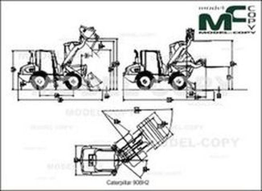 Caterpillar 906H2 - 2D drawing (blueprints)