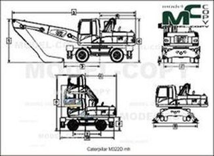 Caterpillar M322D mh - drawing