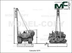 Caterpillar 587R - 2D drawing (blueprints)
