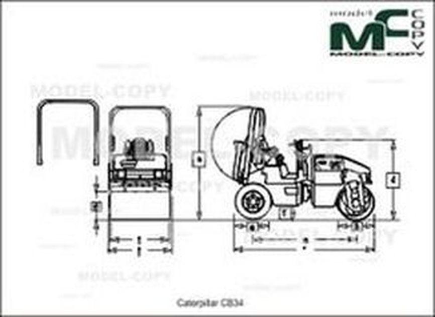 Caterpillar CB34 - drawing
