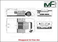Chapparal 2J Can Am - 2D drawing (blueprints)