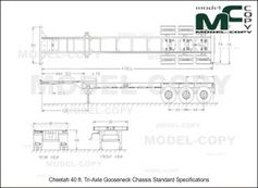 Cheetah 40 ft. Tri-Axle Gooseneck Chassis Standard Specifications - 2D drawing (blueprints)