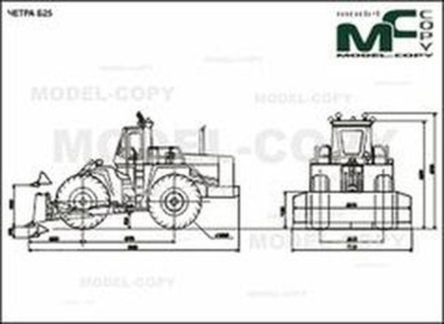 CHETRA B25 - 2D drawing (blueprints)