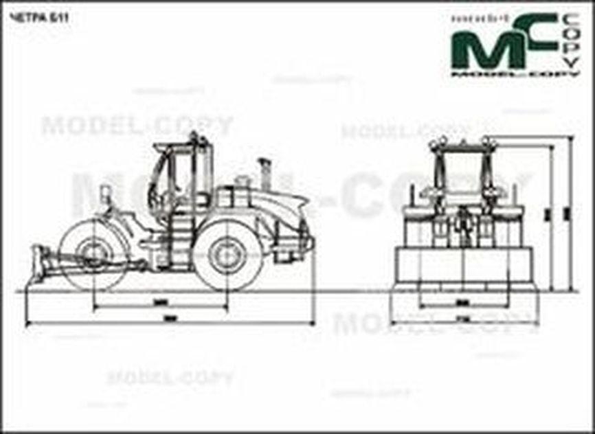 CHETRA B11 - 2D drawing (blueprints)