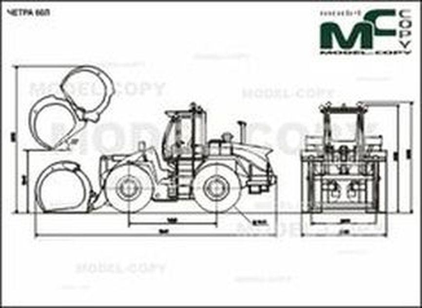 CHETRA 60L - 2D drawing (blueprints)