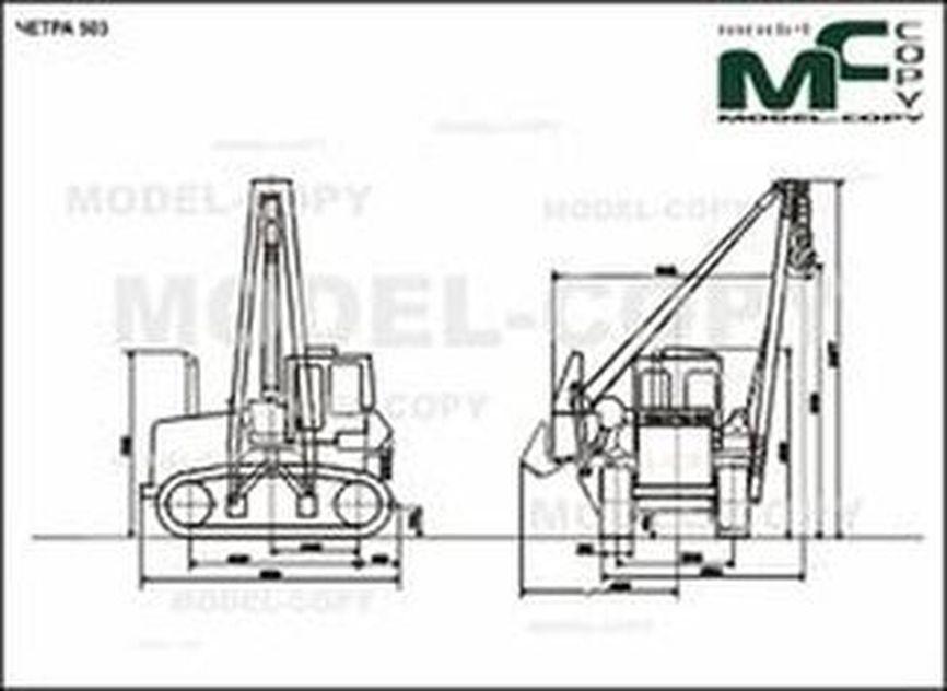 CHETRA 503 - 2D drawing (blueprints)