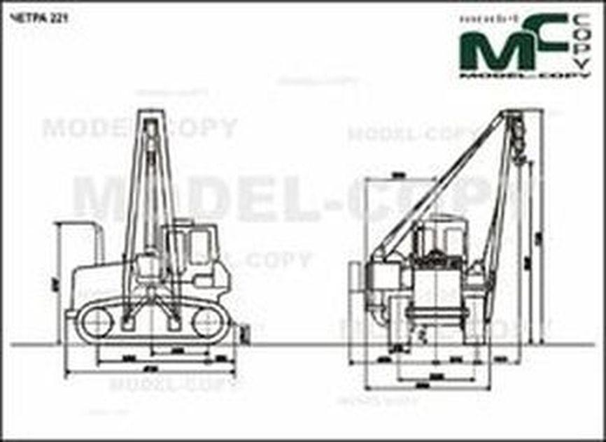 CHETRA 221 - 2D drawing (blueprints)