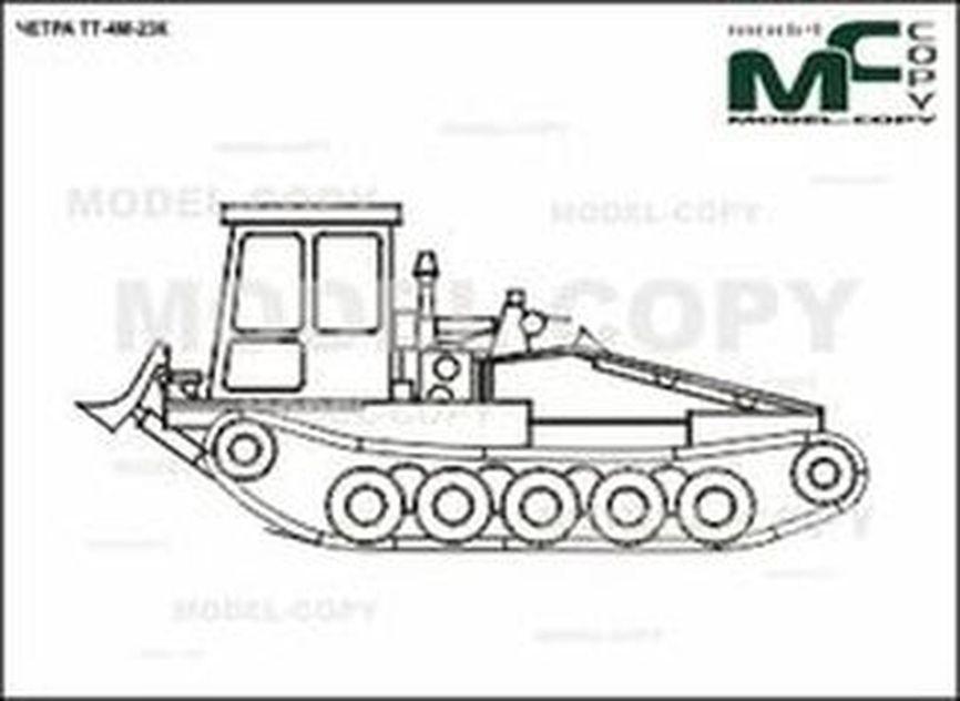CHETRA TT-4M-23K - 2D drawing (blueprints)