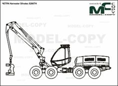 CHETRA Harvester Silvatec 8266TH - 2D drawing (blueprints)