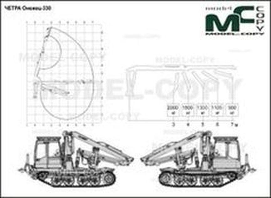 CHETRA Onezhets-330 - 2D drawing (blueprints)
