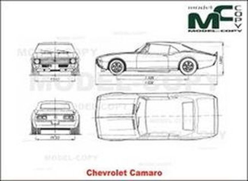 Chevrolet Camaro Drawing 30269 Model Copy