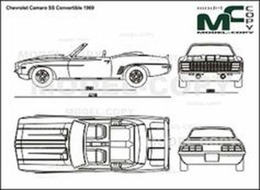 Chevrolet Camaro Ss Convertible 1969 Drawing 30273 Model Copy