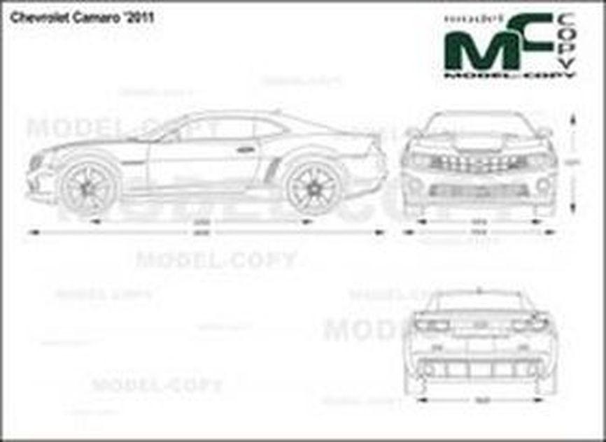 Chevrolet Camaro '2011 - 2D drawing (blueprints)