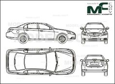 Chevrolet Epica (2006) - 2D drawing (blueprints)