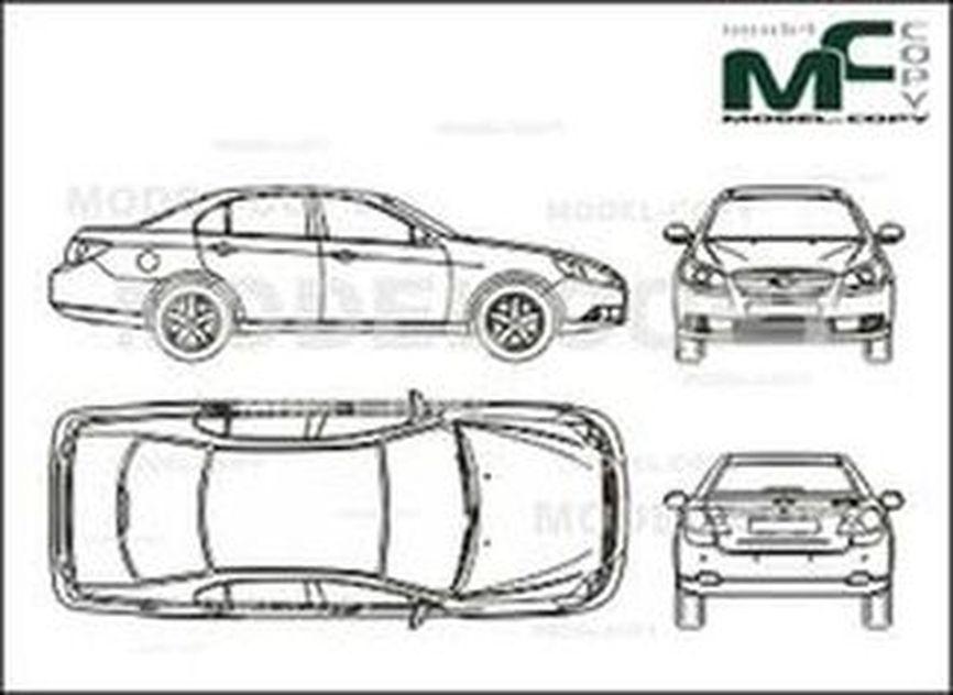 Chevrolet Epica (2006) - 2D-чертеж