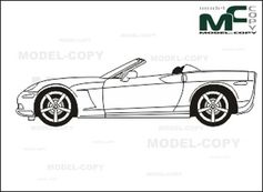 Chevrolet Corvette Pace Car '2008 - Dessin 2D