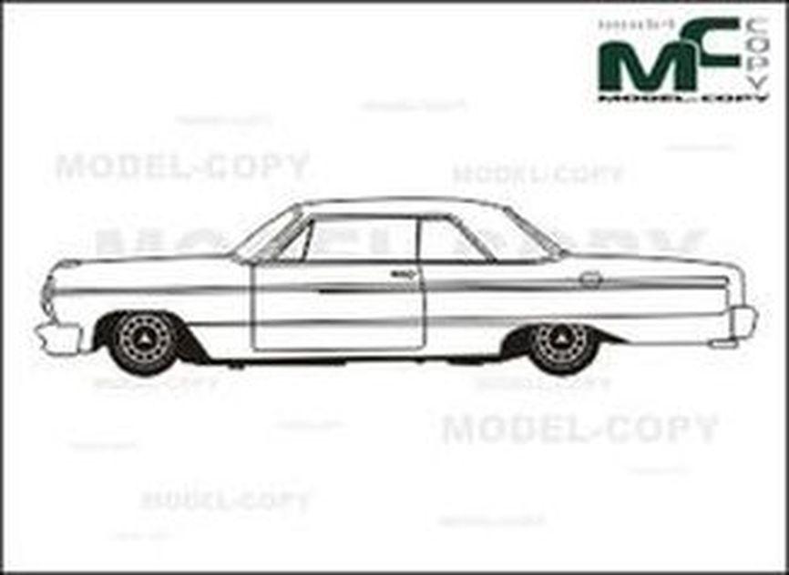chevrolet impala ss  u0026 39 1964 - drawing - 26354