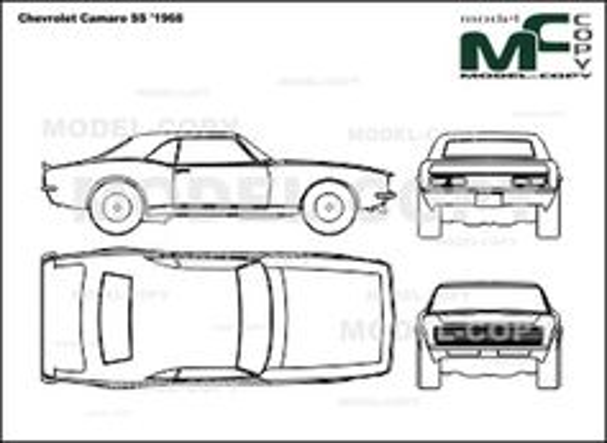 Chevrolet Camaro Ss 1968 Drawing 21478 Model Copy