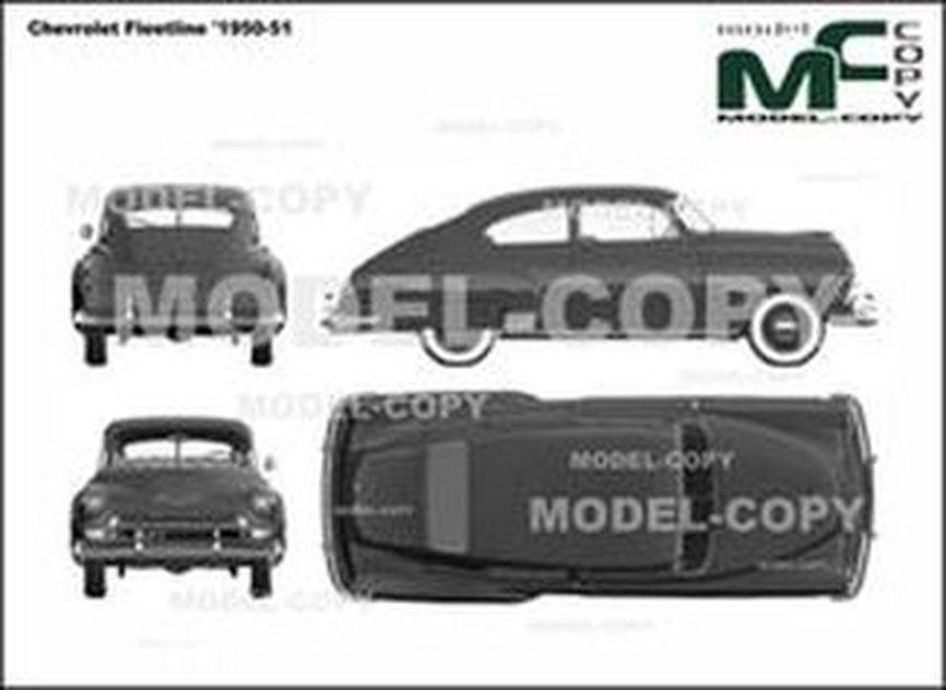 Chevrolet Fleetline '1950-51 - 2D drawing (blueprints)