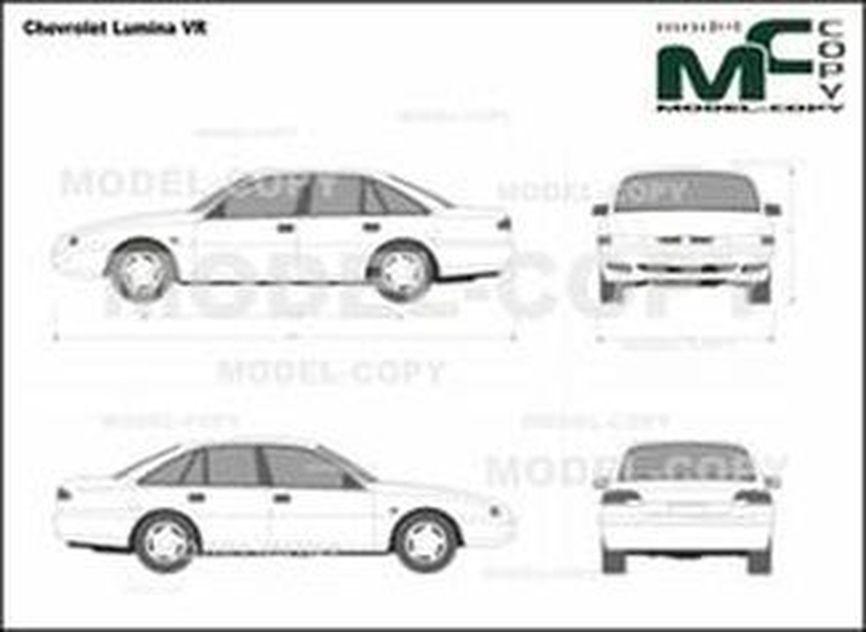 Chevrolet Lumina VR - 2D drawing (blueprints)