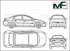 Chrysler Neon (2000) - drawing