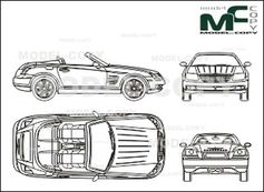 chrysler crossfire roadster  2004  - drawing