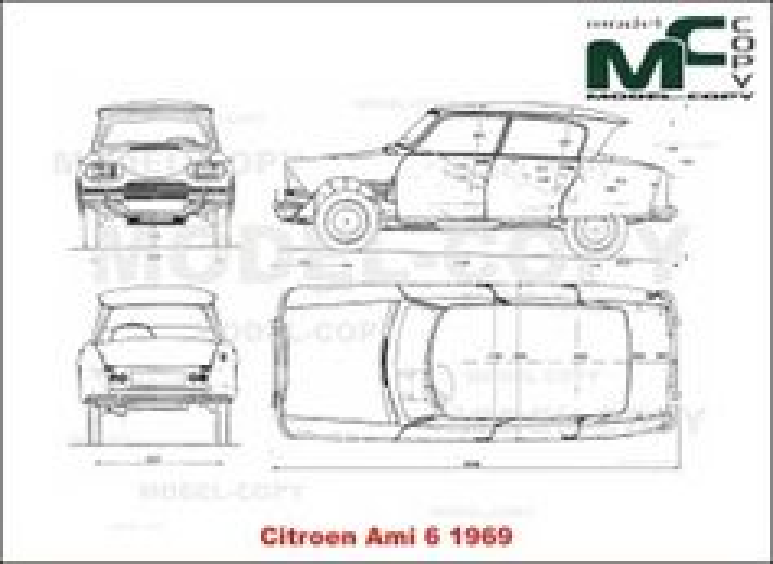 Citroen Ami 6 (1969) - drawing